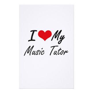 I love my Music Tutor Stationery