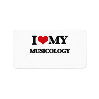 I Love My MUSICOLOGY Address Label