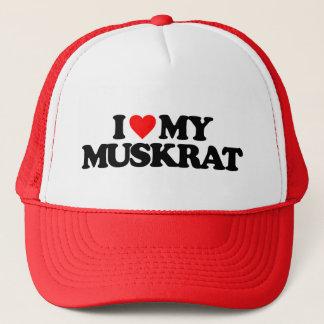 I LOVE MY MUSKRAT TRUCKER HAT