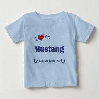 I Love My Mustang (Female Horse) Baby T-Shirt