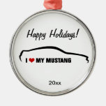 I Love My Mustang Ornaments