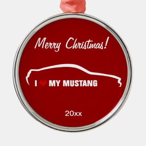 I Love my Mustang - Red Ornament