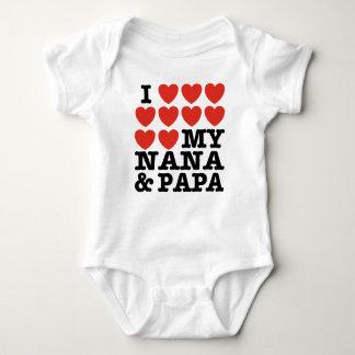 I Love My Nana And Papa Shirt