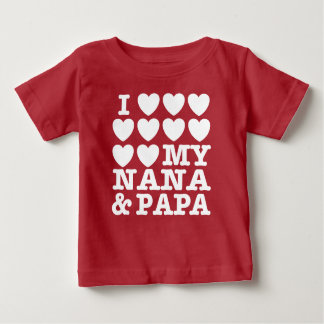 I Love My Nana And Papa T-shirt