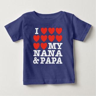 I Love My Nana And Papa T Shirt