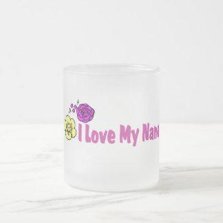 I Love My Nana Frosted Glass Coffee Mug