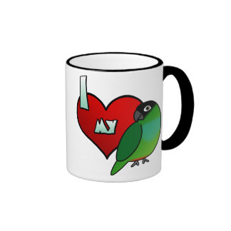 I Love my Nanday Conure Coffee Mugs