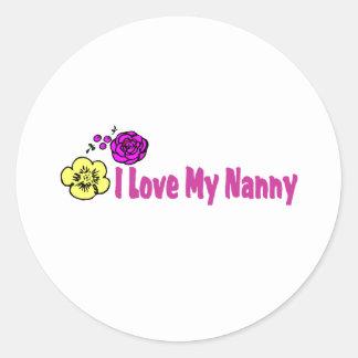 I Love My Nanny Classic Round Sticker