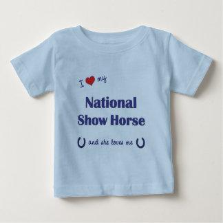 I Love My National Show Horse (Female Horse) Tee Shirts