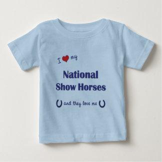 I Love My National Show Horses (Multiple Horses) T Shirts