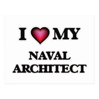 I love my Naval Architect Postcard