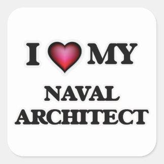 I love my Naval Architect Square Sticker