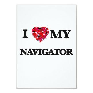 I love my Navigator 5x7 Paper Invitation Card