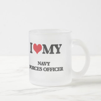 I love my Navy Forces Officer 10 Oz Frosted Glass Coffee Mug