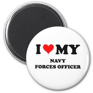 I Love My Navy Forces Officer Refrigerator Magnet