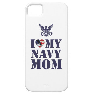 I LOVE MY NAVY MOM iPhone 5 CASE