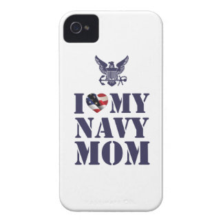 I LOVE MY NAVY MOM Case-Mate iPhone 4 CASE