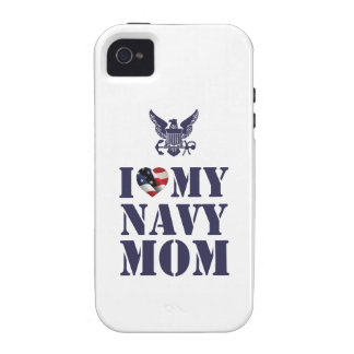I LOVE MY NAVY MOM iPhone 4 COVER
