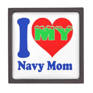 I love my Navy Mom. Premium Trinket Box
