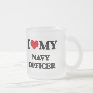 I love my Navy Officer 10 Oz Frosted Glass Coffee Mug
