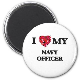 I love my Navy Officer 2 Inch Round Magnet