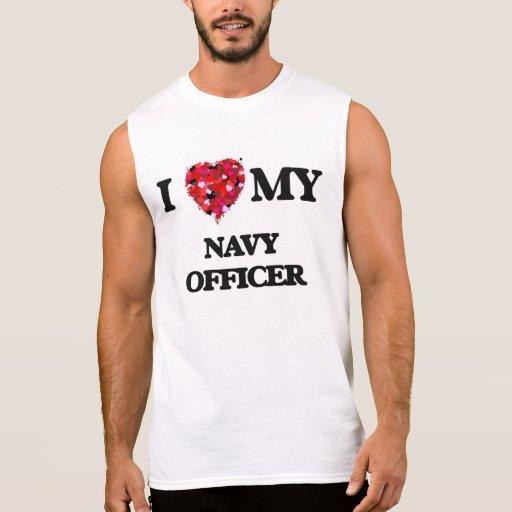I love my Navy Officer Sleeveless Shirts Tank Tops, Tanktops Shirts