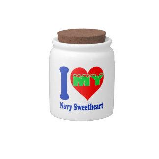 I love my Navy Sweetheart. Candy Jars