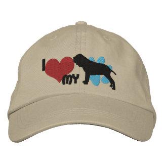 I Love my Neapolitan Mastiff Embroidered Hat