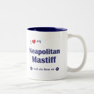 I Love My Neapolitan Mastiff (Female Dog) Two-Tone Coffee Mug