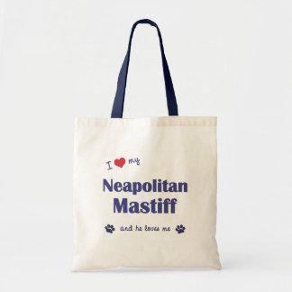 I Love My Neapolitan Mastiff (Male Dog) Tote Bag