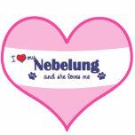 I Love My Nebelung (Female Cat) Photo Sculpture