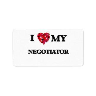 I love my Negotiator Address Label