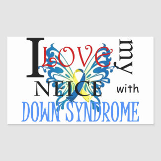 I Love My Neice with Down Syndrome Rectangular Sticker