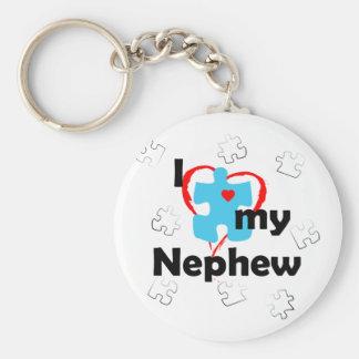 I Love My Nephew - Autism Keychain