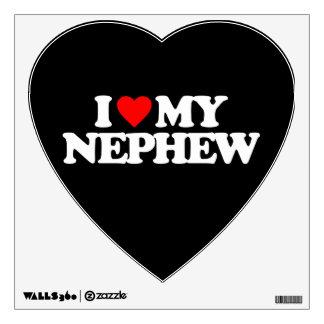 I LOVE MY NEPHEW WALL DECAL