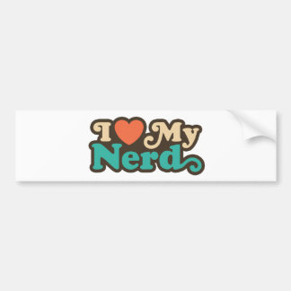 I Love My Nerd Car Bumper Sticker