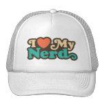 I Love My Nerd Mesh Hats