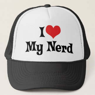 I Love My Nerd Trucker Hat