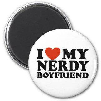 I Love My Nerdy Boyfriend 2 Inch Round Magnet