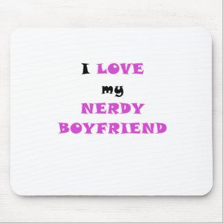 I Love my Nerdy Boyfriend Mousepad