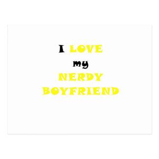 I Love my Nerdy Boyfriend Postcard