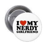 I Love My Nerdy Girlfriend 2 Inch Round Button