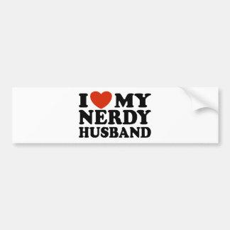 I Love My Nerdy Husband Car Bumper Sticker