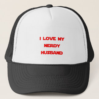 I Love My Nerdy Husband Trucker Hat