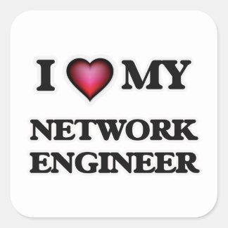 I love my Network Engineer Square Sticker