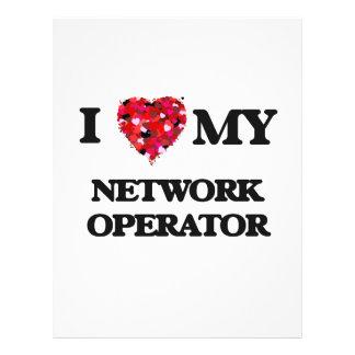 "I love my Network Operator 8.5"" X 11"" Flyer"