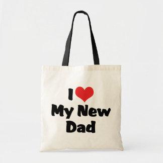 I Love My New Dad Tote Bag