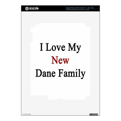 I Love My New Dane Family iPad 3 Skin