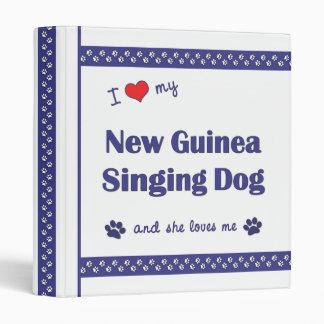 I Love My New Guinea Singing Dog (Female Dog) Binder
