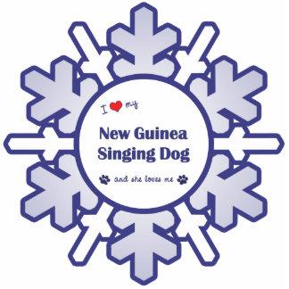 I Love My New Guinea Singing Dog (Female Dog) Cutout